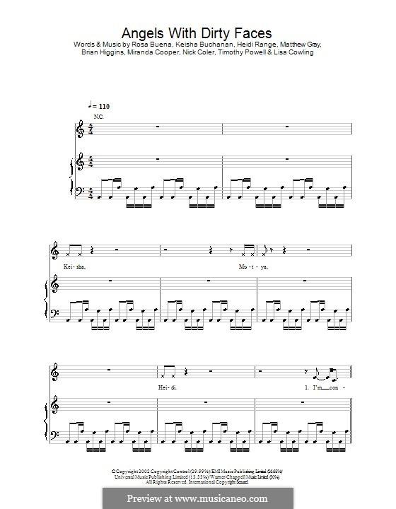 Angels with Dirty Faces (Sugababes): Für Stimme und Klavier (oder Gitarre) by Heidi Range, Keisha Buchanan, Rosa Buena