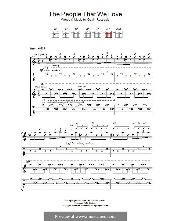 The People That We Love (Bush): Für Gitarre mit Tab by Gavin Rossdale