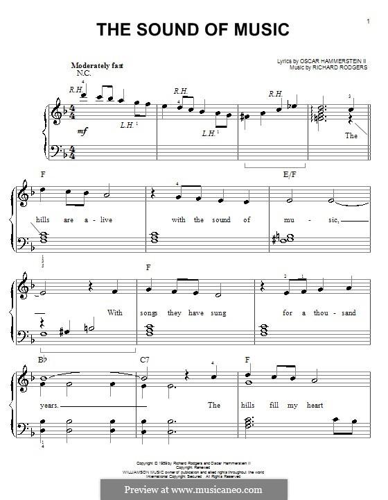 The Sound of Music: Für Klavier, leicht by Richard Rodgers