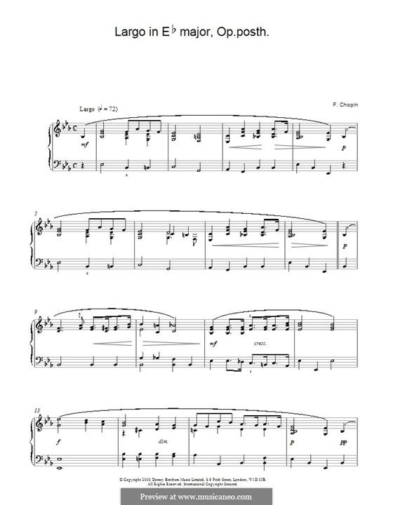 Largo in Es-Dur, B.109 KK. IVb/5: Für Klavier by Frédéric Chopin