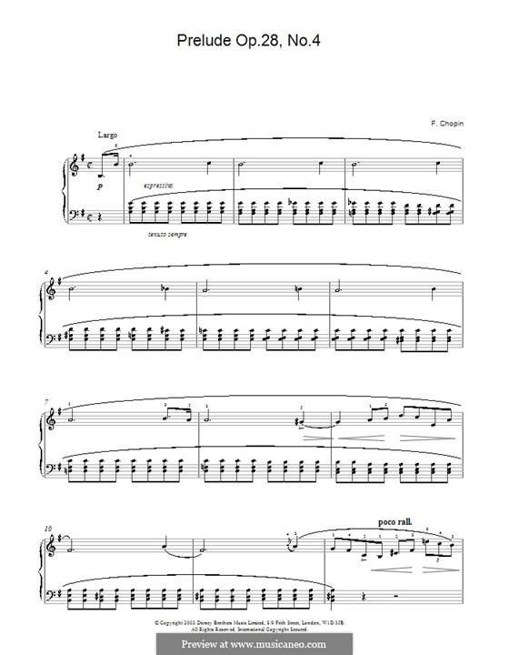 Nr.4 in e-Moll: Für Klavier (mit Fingersatz) by Frédéric Chopin