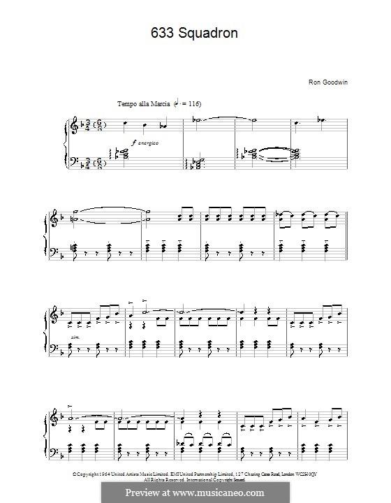 633 Squadron: Für Klavier by Ron Goodwin