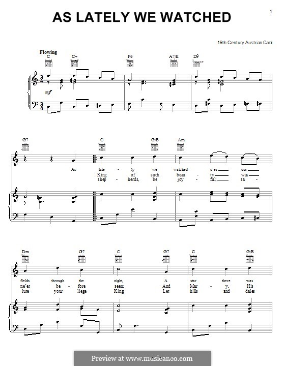 As Lately We Watched: Für Stimme und Klavier (oder Gitarre) by folklore