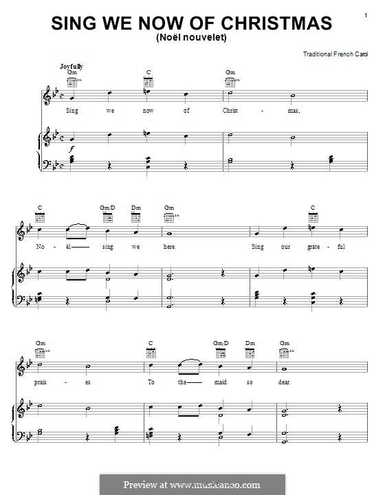 Sing We Now of Christmas (from Morning Star): Für Stimme und Klavier (oder Gitarre) by folklore