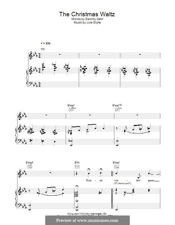 The Christmas Waltz: Für Stimme mit Klavier oder Gitarre (Doris Day) by Jule Styne
