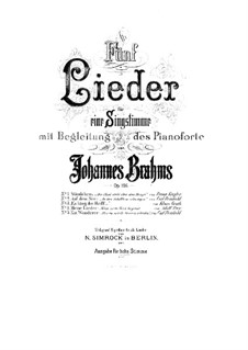Fünf Lieder, Op.106: Vollsammlung by Johannes Brahms