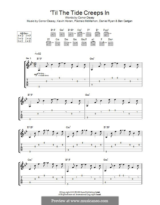 'Til the Tide Creeps in (The Thrills): Für Gitarre mit Tabulatur by Conor Deasy, Kevin Horan, Pádraic McMahon
