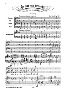 Das Lied von der Glocke, Op.45: Das Lied von der Glocke by Max Bruch