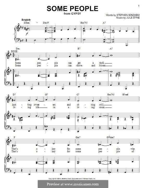 Some People: Für Stimme und Klavier (oder Gitarre) by Jule Styne