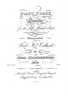 Klaviersonate für die linke Hand, Op.40: Klaviersonate für die linke Hand by Friedrich Kalkbrenner
