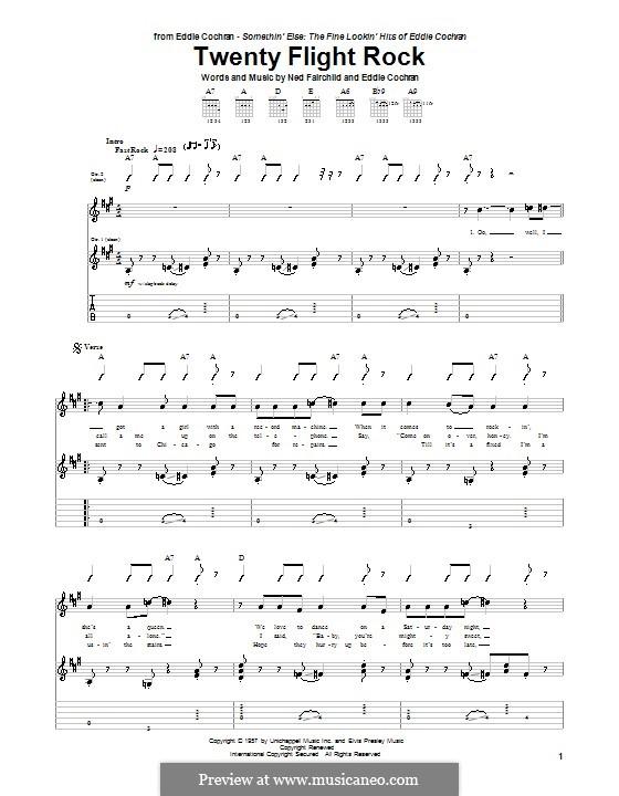 Twenty Flight Rock: Für Gitarre mit Tab by Eddie Cochran, Ned Fairchild