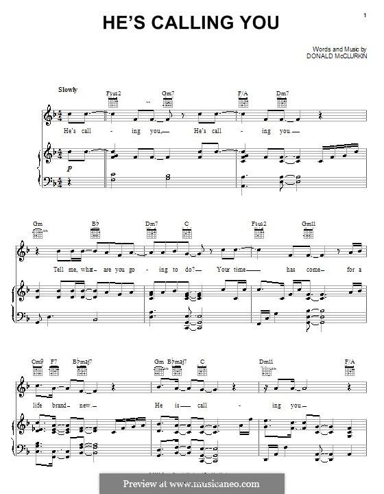 He's Calling You: Für Stimme und Klavier (oder Gitarre) by Donnie McClurkin