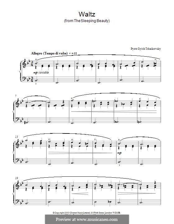 Walzer: Für Klavier (Fragment) by Pjotr Tschaikowski