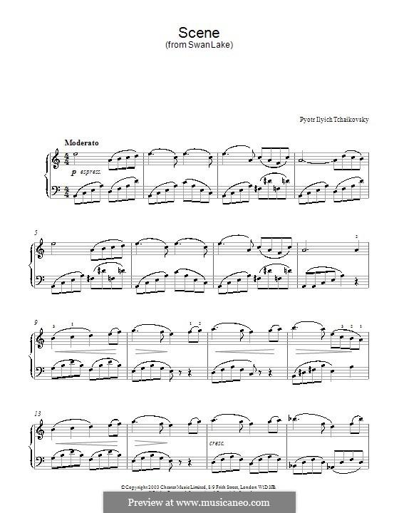 Nr.14 Scène: Bearbeitung für Klavier (Thema) by Pjotr Tschaikowski