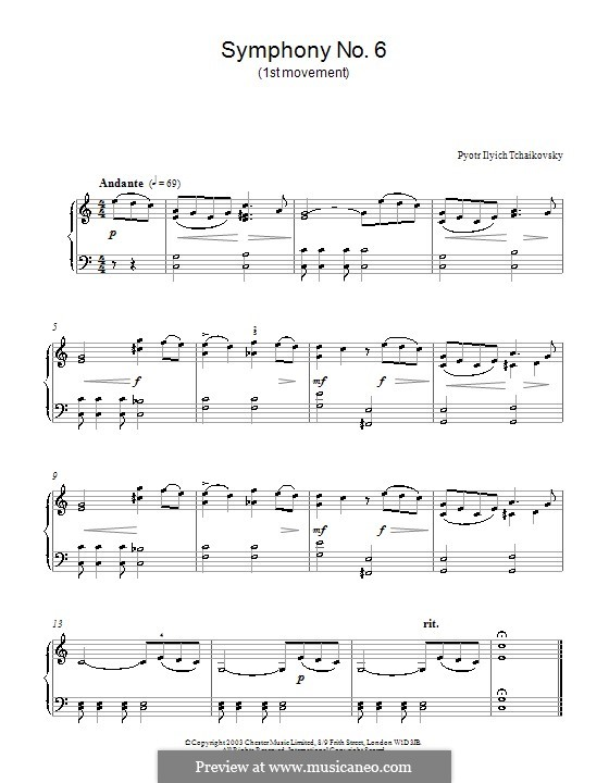 Teil I: Bearbeitung für Klavier (Fragment) by Pjotr Tschaikowski