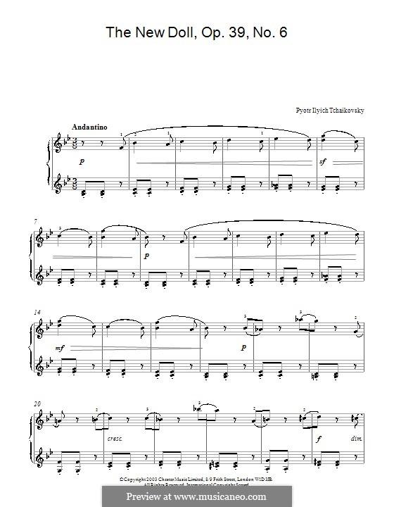 No.9 The New Doll: Für Klavier by Pjotr Tschaikowski