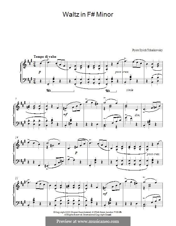 Walzer in fis-Moll: Walzer in fis-Moll by Pjotr Tschaikowski