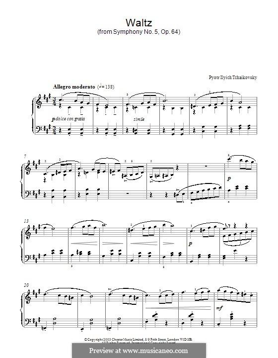 Teil III: Bearbeitung für Klavier (Fragment) by Pjotr Tschaikowski