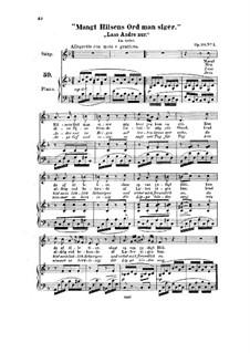 Vier Lieder, Op.20: Vier Lieder by Halfdan Kjerulf
