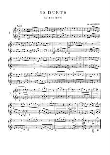 Dreissig Duette für zwei Hörner: Dreissig Duette für zwei Hörner by Henri Kling