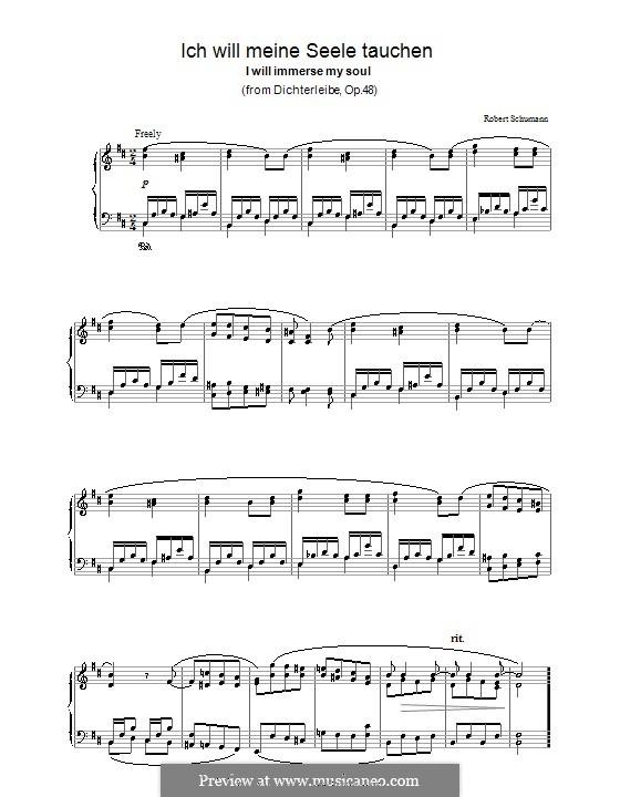 Nr.5 Ich will meine Seele tauchen: Für Klavier by Robert Schumann