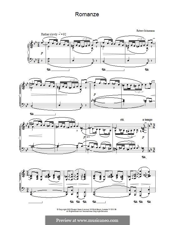 Romanze für Klavier: Romanze für Klavier by Robert Schumann