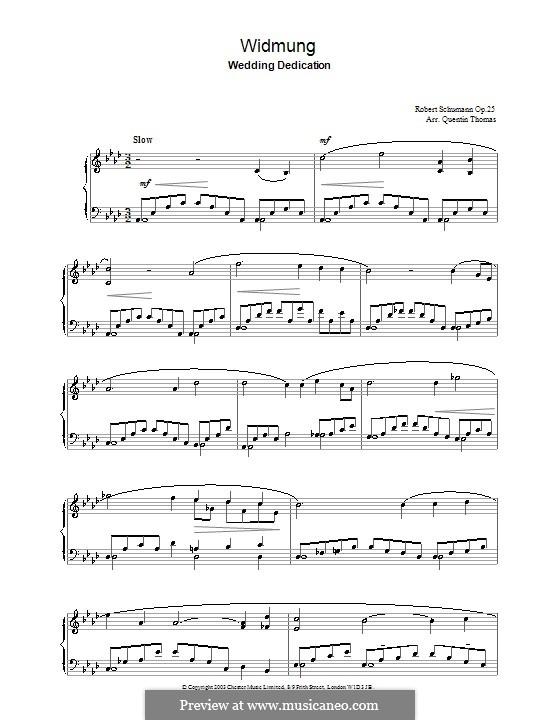 Nr.1 Widmung: Für Klavier by Robert Schumann