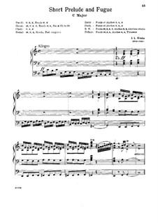 Kurzes Präludium und Fuge: Kurzes Präludium und Fuge by Johann Ludwig Krebs