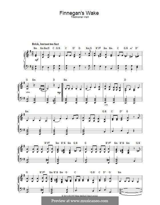 Finnegan's Wake: Für Klavier by folklore