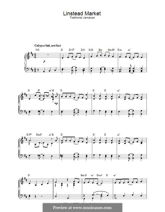 Linstead Market: Für Klavier by folklore
