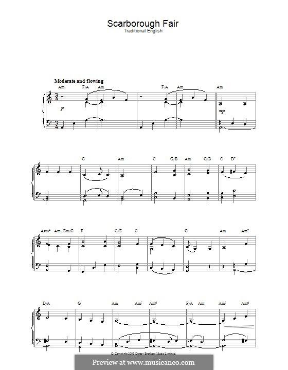 Scarborough Fair: Für Klavier by folklore