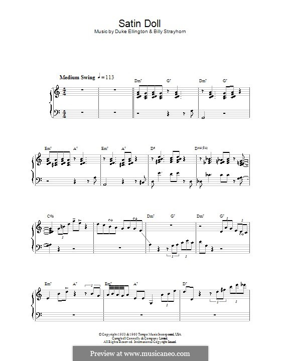 Satin Doll: Für Klavier by Billy Strayhorn, Duke Ellington