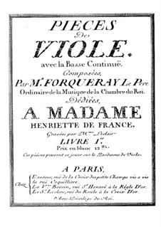 Stücke für Bratsche und Basso Continuo: Partitur by Antoine Forqueray