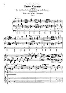 Klavierkonzert Nr.1, Op.15: Klavierkonzert Nr.1 by Edward MacDowell