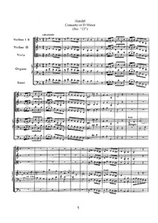 Konzert Nr.3 in d-Moll, HWV 297: Konzert Nr.3 in d-Moll by Georg Friedrich Händel