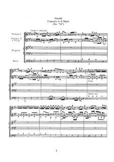 Konzert Nr.2 in A-Dur, HWV 296a: Konzert Nr.2 in A-Dur by Georg Friedrich Händel