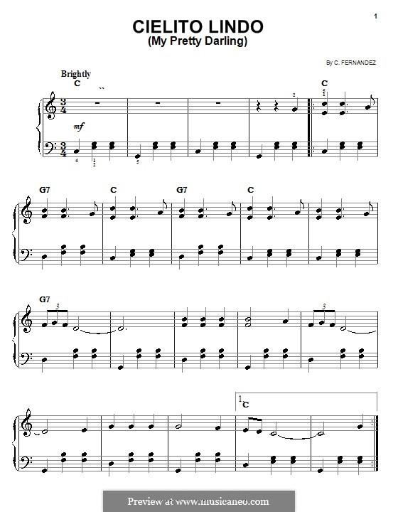 Cielito Lindo: Für Klavier, leicht by folklore