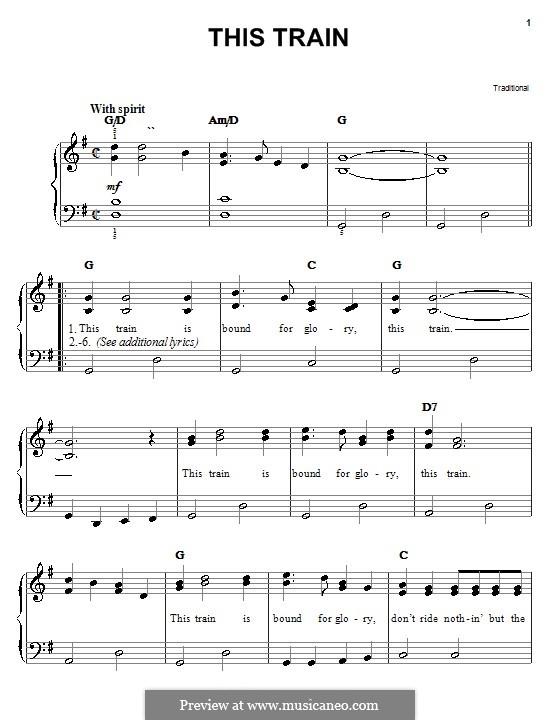 This Train: Für Klavier, leicht by folklore