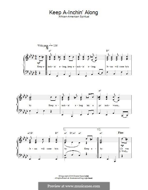 Keep A-Inchin' Along: Für Stimme und Klavier by folklore