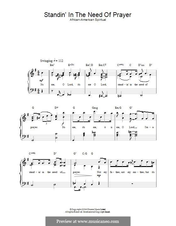 Standing in the Need of Prayer: Für Stimme und Klavier by folklore