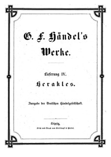 Hercules, HWV 60: Vollpartitur by Georg Friedrich Händel
