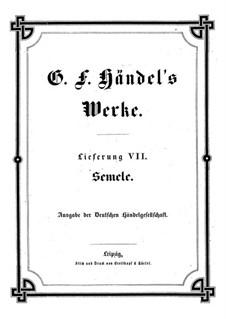 Semele, HWV 58: Vollpartitur by Georg Friedrich Händel