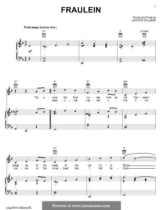 Fraulein: Für Stimme und Klavier (oder Gitarre) by Lawton Williams