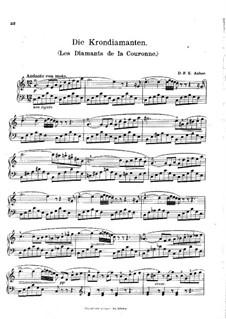 Die Krondiamanten: Ouvertüre, für Klavier by Daniel Auber
