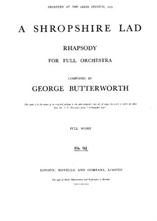 Shropshire Lad: Shropshire Lad by George Butterworth
