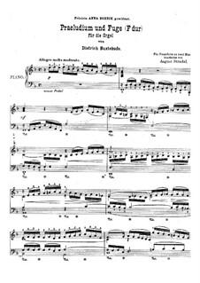Präludium für Orgel in F-Dur, BuxWV 145: Version für Klavier by Dietrich Buxtehude