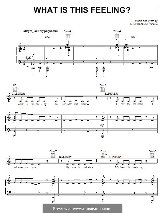 What Is This Feeling?: Für Stimme und Klavier (oder Gitarre) by Stephen Schwartz