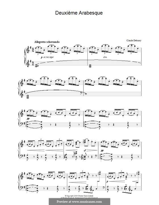 Zwei Arabesken, L.66: Arabeske Nr.2 by Claude Debussy