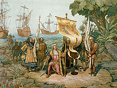 Columbus claiming possession of the New World