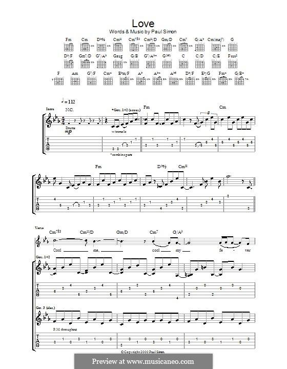 Love: Para guitarra com guia by Paul Simon